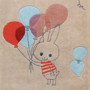 Kilimas Zuikis su balionais