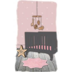 Kilimas Mažoji žvaigždė (rožinis)